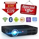 "WOWOTO H8 3000 lumens Mini Projector LED DLP 1280x800 Real Mini Home Theater Projector WXGA Support 3D 1080P HD Perfect For Entertainment Business Wireless Screen Share Android HDMI USBx2 RJ45 176""± (Color: H8 )"