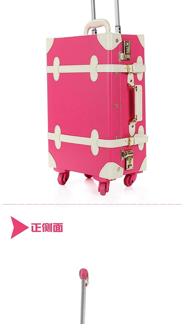 DPIST® Luggage Sets On Sale Vintage & Retro Style Carry-On Trolley Luggage and Cosmetic Tote Bag Set 5
