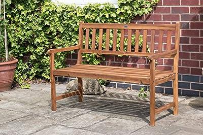 Bentley Garden 2-3 Seater Acacia Wooden Garden Patio Bench Seat