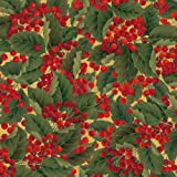 Entertaining with Caspari Continuous Gift Wrapping Paper, Christmas Berries Roll, 9-Foot, 1-Roll