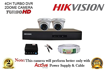 Hikvision 2 CCTV Camera kit 4 Channel DVR at amazon