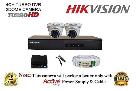 Hikvision 2 CCTV Camera kit 4 Channel DVR at amazon