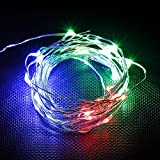 Ultra Thin 30 Micro LEDs Bulb Fairy String Light With Battery Compartment,Twinkling Mode (Multi-colored)