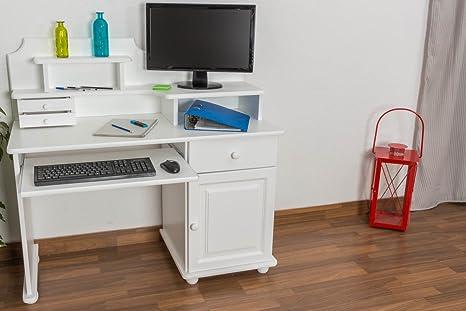 Schreibtisch Holz weiß