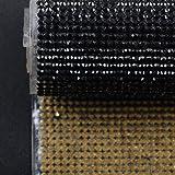 Hisenlee Boutique Rhinestone Decorative Stickers (24X40CM Hot Melt Crystal Crystal Rhinestone DIY Clothes, Shoes, Car, Mobile Phone Case) (Black) (Color: Black)