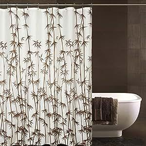 Amazon Fabric Shower Curtain Waterproof Bathroom