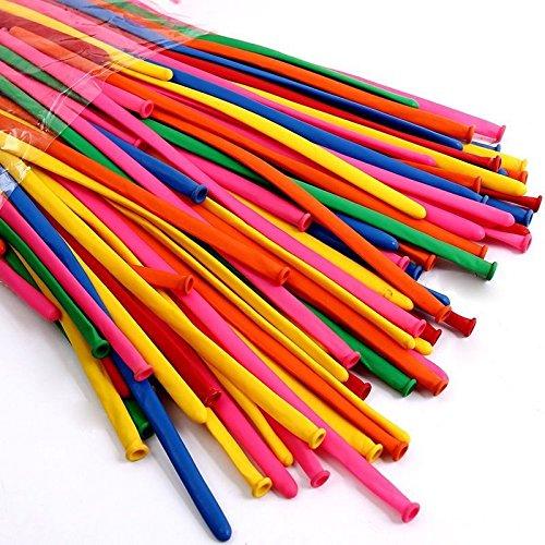 500pz-palloncini-modellabili-260Q-multicolor-CON-GONFIATORE-IN-REGALO-party-compleanno-animazione