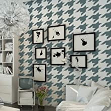 J BOUTIQUE STENCILS Houndstooth Wall Stencils Allover Pattern for DIY walls decor
