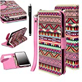 Note 3 Case, Galaxy Note 3 Flip Case - E LV Galaxy Note 3 Case TRIBAL PRINTED Deluxe PU Leather Folio Wallet Case Cover for Samsung Galaxy Note 3 N9000 (AT&T, T-Mobile, Sprint, Verizon) with 1 Stylus and 1 Clear Screen Protector