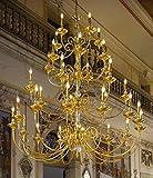 Kolarz Lustres Palladio Or 24 carats Fait à la main,Fabriqué en Italie,Composé de cristaux PURE