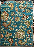 Al Fresco Paisley Turquoise 5 x 8 Outdoor Area by Shaw Living. Add pizazz indoors or out - Fun, Fresh, Fabulous. This rug is machine-woven olefin, cut-pile construction, Resistant to color fade. Free Shipping!