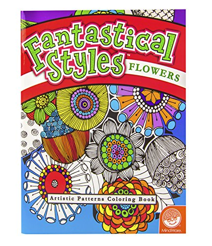 MindWare - Fantastical Flowers Coloring Book - Artistic Patterns - Teaches Creativity and Fosters Imagination - 1