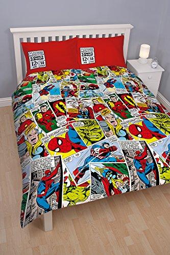 character-world-set-di-biancheria-per-letto-matrimoniale-motivo-marvel-comics-multicolore-mehrfarbig