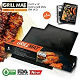 BIG SALE TODAY 50% OFF on #1 BEST SELLING Premium BBQ / GRILL MAT Bundle (LIMITED TIME ONLY!!) ★ SET OF 2 HEAVY DUTY VERANO BBQ Grill Mats - EXTRA THICK MATERIAL + FREE BBQ Grill Guide as Bonus, Perfect for OUTDOOR and INDOOR cooking! - Must Have Grilling