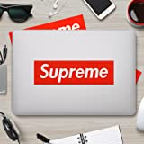 Supreme Sticker [ 5Pack, 7.5 x 2 inch Box Logo ] Waterproof Vinyl Supreme Stickers for Laptop, Car, Helmet, Skateboard, Luggage (5PACK) (Color: red, Tamaño: 5PACK)