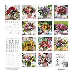Alpha Edition 16.0101 Fiori Calendario da Muro 2016, 30 X 60 cm Aperto