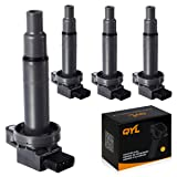 4Pcs Ignition Coil Pack Replacement for Scion XA XB Yaris Toyota Echo Prius Camry C1304 UF316 5C1293 (Tamaño: Complete set of 4)