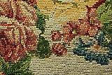 おしゃれ な 花柄 薄型 ラグ アルダ アイボリー 約 200×200 cm 約 2畳 大 ゴブラン織り カーペット 折りたたみ 可能 ホットカーペットカバー 対応