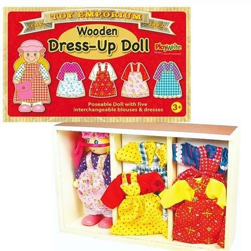 Robe Poseable la poupée avec 5 tenues interchangeables - 351-111