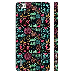 Huawei Honor 6 Phool Walla Skull designer mobile hard shell case by Enthopia