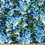 44'' Wide State Flowers Texas Bluebonnets Blue/Green Fabric By The Yard