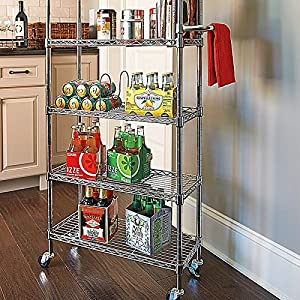 6 Shelf Pantry Rack - Black - Improvements