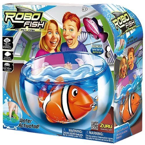 Robo Fish Play Set Fish Bowl with Random Fish Included - Water activated! As seen on TV (Robot Fish compare prices)