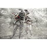 Pitaara Box Medieval Knights Fighting In A Battle - MEDIUM Size 24.0 Inch X 16.0 Inch - UNFRAMED SELF-ADHESIVE PEEL & STICK GLOSSY LAMINATED PVC VINYL WALL STICKERS & WALL DECALS : Wall Paintings : DIGITAL PRINT Wall Posters Artwork Like Hand Pain