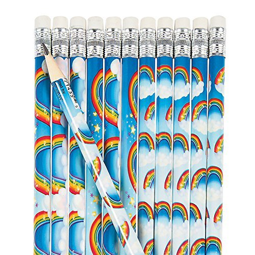 Rainbows and Clouds Pencils - 24 pc