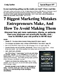 img - for 7 Biggest Marketing Mistakes Entrepreneurs Make, And How To Avoid Making Them book / textbook / text book