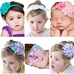 Visokar® Adorable Baby\'s Headbands Girl\'s Hair Bows Newborn Headbands (6 different style bows)