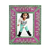 Home And Bazaar Ethnic Rajasthani Handpainted Photo Frame - Purple