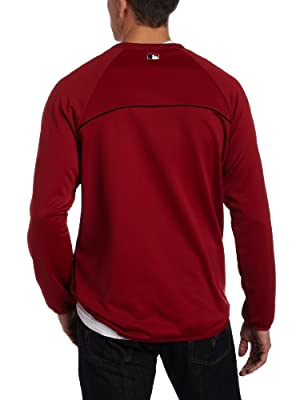 MLB Arizona Diamondbacks Long Sleeve Crew Neck Thermabase Tech Fleece Pullover