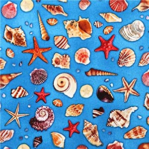 Maritime shell ocean fabric children of the for Children of the sea fabric
