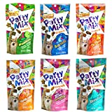 Friskies Party Mix Crunch Variety Pack (6 Fun Flavors) - Picnic, Beachside, Cheezy Craze, Original, California Dreamin', and Meow Luau