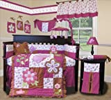 SISI Baby Boutique Sweet Garden 15 PCS Crib Bedding Nursery Set by Sisi