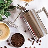 MIRA-Small-Stainless-Steel-French-Press-20-oz-5-cup-Coffee-Plunger-Press-Pot-Best-Tea-Brewer-Maker-Quality-Cafetiere-Double-Walled