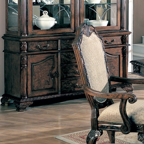 Cheap Coaster Saint Charles Buffet and Hutch in Deep Brown Finish (B00424PNES)