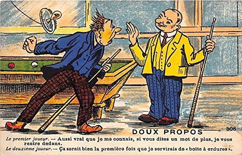 doux-propos-old-vintage-pool-billards-postcard-post-card