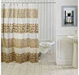 Ocean Dew Leopard Shower Curtain - @home By Nilkamal, Brown