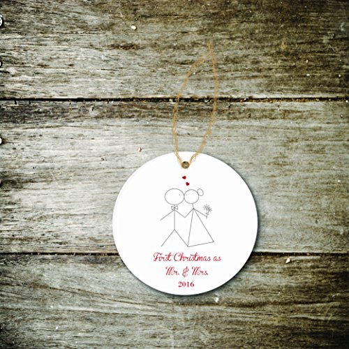 Christmas Ornament Holiday Gift Newlyweds Wedding Bridal Shower Gift First Christmas