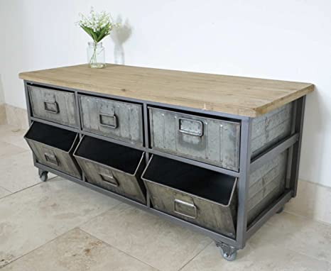 6 DRAWERS METAL INDUSTRIAL CABINET