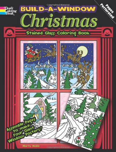 Build a Window Stained Glass Coloring Book-Christmas (Build Window Stained Glass Coloring Book)