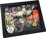 [Musical Story] アーティスト バンド ミニチュアギター 卓上 壁掛け 額装 額縁 セット レッド ツェッペリン LED ZEPPELIN