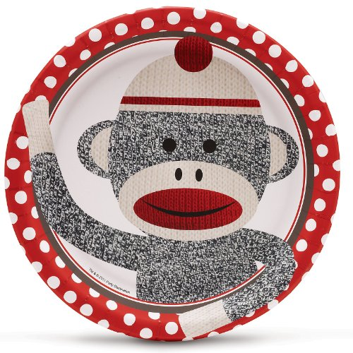 Why Choose The Sock Monkey Red Dinner Plates (8) Party Supplies