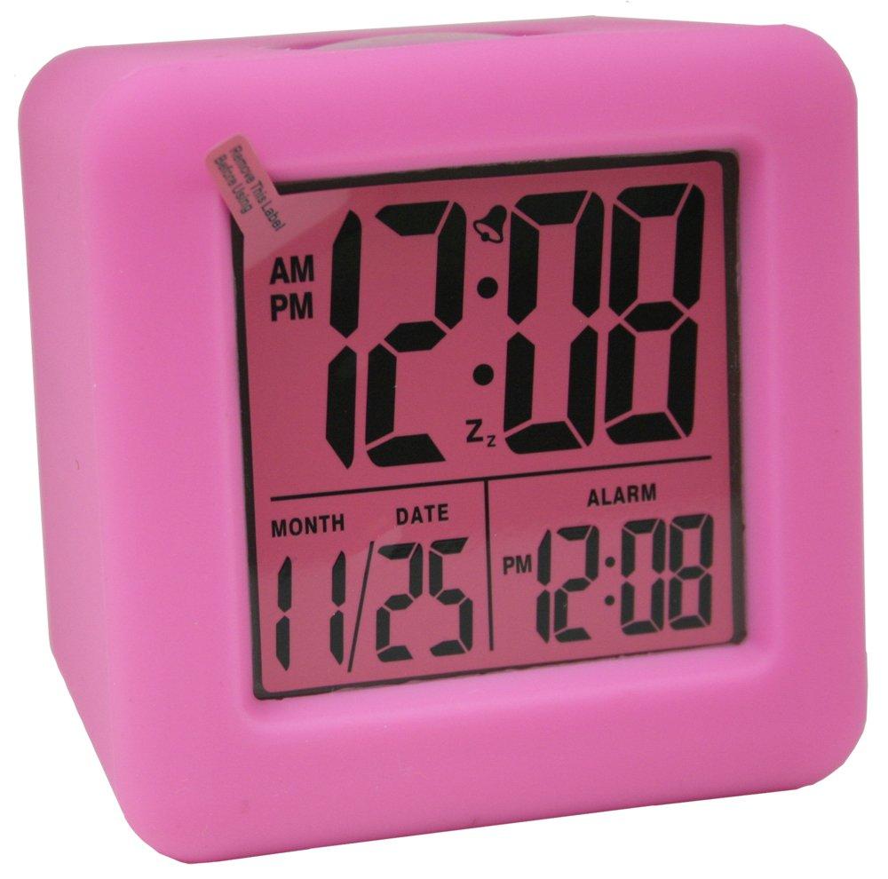 pink digital alarm clock. Black Bedroom Furniture Sets. Home Design Ideas