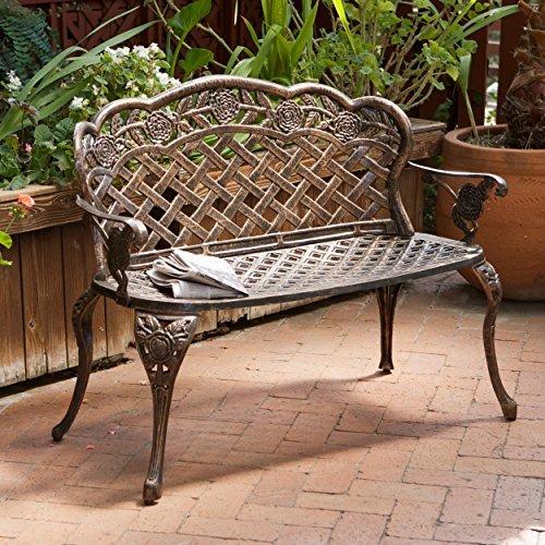 Santa Fe Cast Aluminum Garden Bench 0