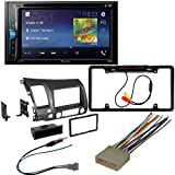 CACHÉ KIT326 Bundle with Complete Car Stereo Installation Kit with Receiver - Compatible with 2006-2011 Honda Civic - Bluetooth Touchscreen Radio - Backup Camera, Double Din Mounting Kit (5 Item)