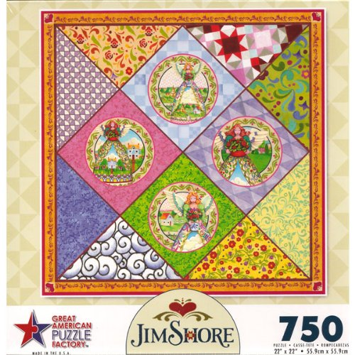 Cheap Great American Angels Quilt jigsaw puzzle by Jim Shore 750 piece by Great American (B003VW8ARY)