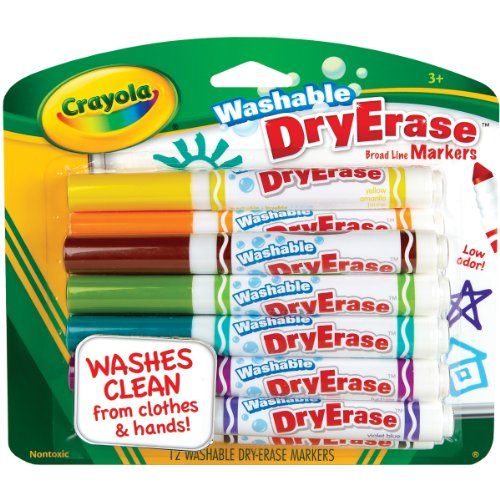 Crayola 12 Ct Washable Dry Erase Markers - 1
